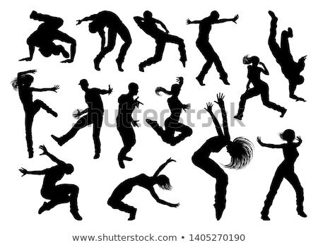 straat · dans · danser · silhouet · mannelijke · hip · hop - stockfoto © krisdog
