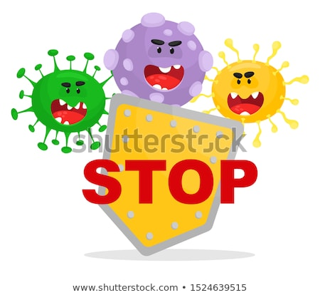 Stop microbe. Microscopic viruses. Vector Stock photo © Andrei_