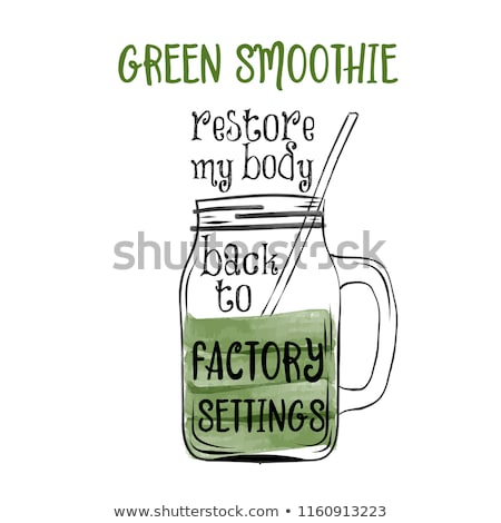 Hand drawn typography poster with creative slogan: Green soothie Stock photo © balasoiu