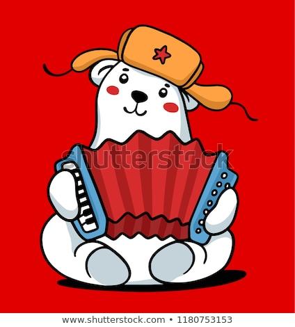 ロシア クマ 毛皮 帽子 ロシア ストックフォト © popaukropa