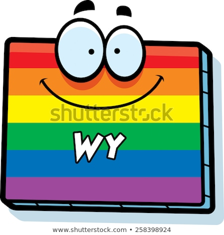 Cartoon Wyoming Gay Marriage Stock photo © cthoman