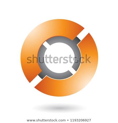Arancione futuristico disco vettore illustrazione isolato Foto d'archivio © cidepix