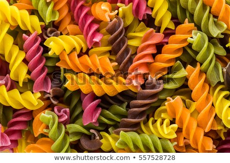 uncooked multicolored spaghetti stock photo © dash
