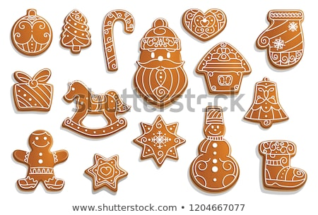 Noël · gingerbread · man · bonbons · pain · d'épice · cookie - photo stock © karandaev