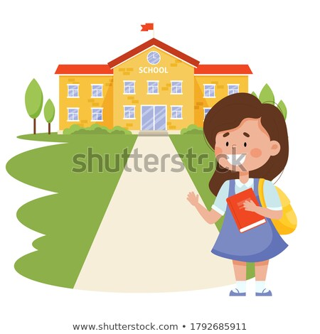 voetganger · teken · school · verkeersbord · illustratie · weg - stockfoto © robuart