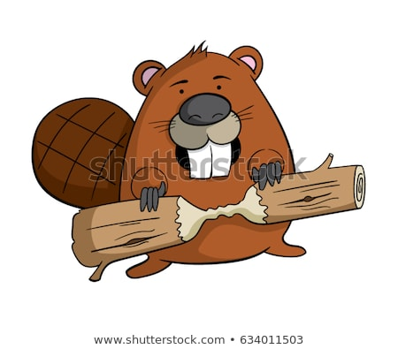 Cartoon Beaver Smiling Stock photo © cthoman