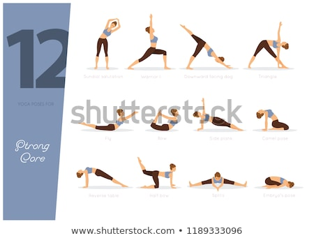 12 Yoga poses for strong core Stock photo © anastasiya_popov