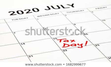 date · recettes · impôt · papier · Ouvrir · la · financière - photo stock © oakozhan