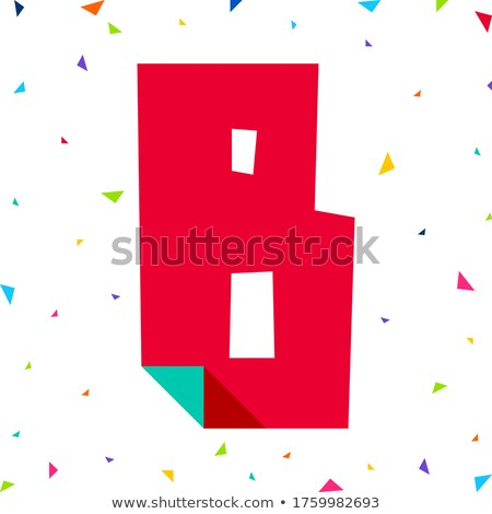 Colored letters, cut from paper with bent Stock photo © Ecelop