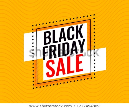 Elegante black friday venda quadro amarelo abstrato Foto stock © SArts