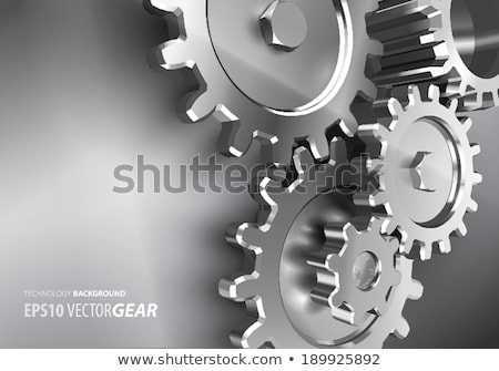 Steel Industry - Mechanism of Metal Cog Gears . 3D . Stock photo © tashatuvango
