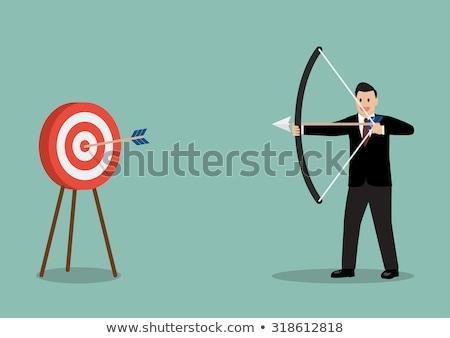 üzletember telitalálat cél illusztráció üzlet boldog Stock fotó © artisticco