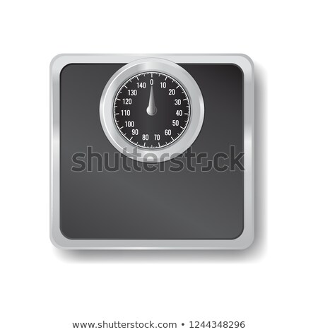 Siyah makine ölçek ikon sağlık vücut Stok fotoğraf © MarySan