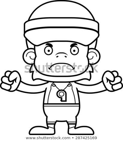 Cartoon Angry Lifeguard Orangutan Stock photo © cthoman