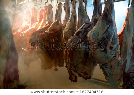 smoked pork chop factory stock photo © grafvision