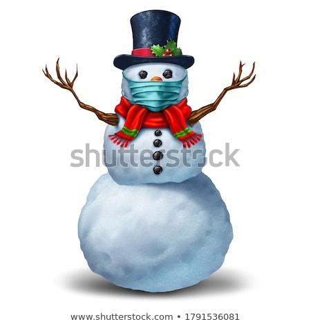 Wakacje grypa sezon christmas zimą choroba Zdjęcia stock © Lightsource