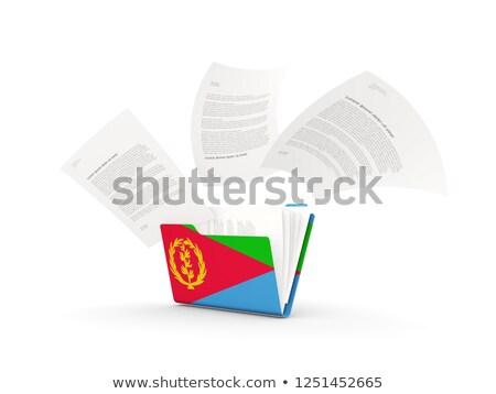 папке флаг Эритрея файла изолированный белый Сток-фото © MikhailMishchenko