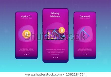 Ukryty wydobycie app interfejs szablon Zdjęcia stock © RAStudio