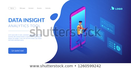 Data insight concept vector isometric illustration. Stock photo © RAStudio