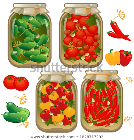 Preserved Food Tomatoes Vector Illustration Stock photo © robuart