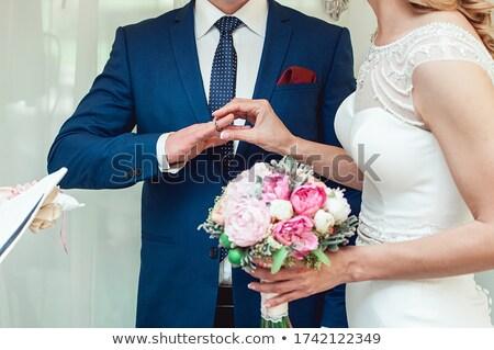 Sposa lo sposo anello sacerdote wedding Coppia Foto d'archivio © ruslanshramko