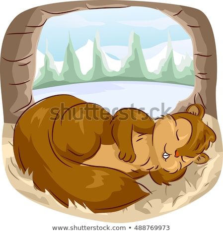 Cartoon wiewiórki ilustracja drzemka baby Zdjęcia stock © cthoman
