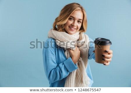 画像 女性 20歳代 スカーフ 笑みを浮かべて ストックフォト © deandrobot