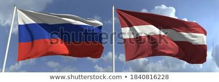 Due bandiere Russia Lettonia isolato Foto d'archivio © MikhailMishchenko
