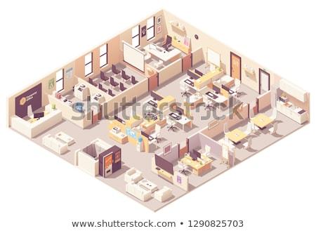 oficina · trabajo · infografía · 3D · interior - foto stock © tele52