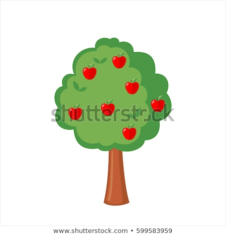 apple tree full of fruit isolated cartoon icon stock photo © robuart