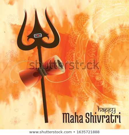 hindu maha shivratri festival background with trishul symbol Stock photo © SArts