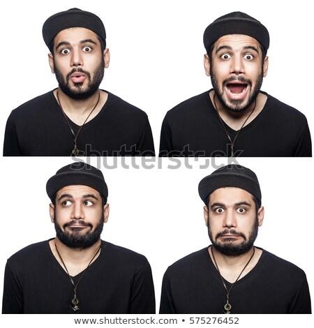 Cztery osoby inny uczucia ilustracja kobieta uśmiech Zdjęcia stock © colematt