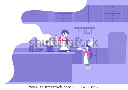 cooking flat concept icons stock photo © netkov1