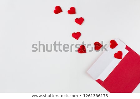 Love letter and red hearts Stock photo © lemony