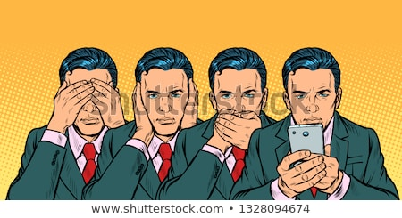 Not see say look, smartphone communication concept Stock photo © studiostoks