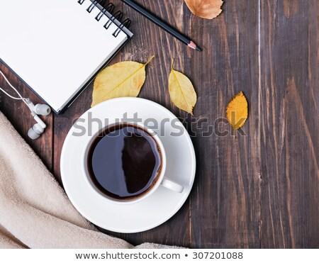 черный · наушники · Кубок · кофе · ноутбук · сведению - Сток-фото © Illia