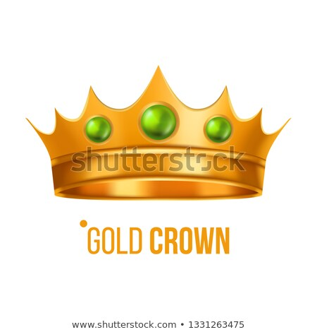 Gold Crown Vector. Nobility Baroque Object. Isolated Realistic Illustration Stock photo © pikepicture