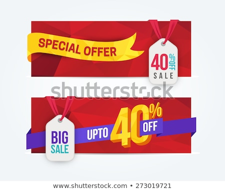 Mega Discount Hot Price Set Vector Illustration Stock photo © robuart