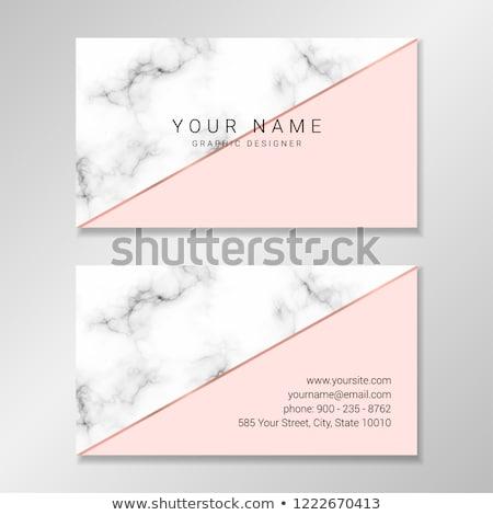 Modern márvány névjegy mértani arany formák Stock fotó © SArts