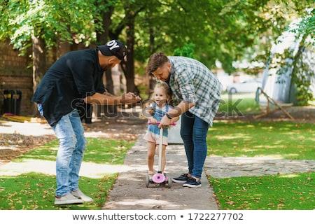 ストックフォト: 両親 · 娘 · 幸せ · 男性 · ゲイ