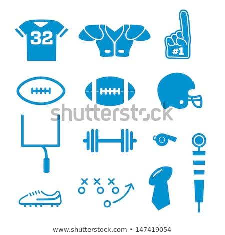 Amerikan futbol köpük parmak ikon renk Stok fotoğraf © angelp