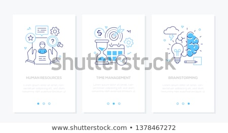 business and finance   set of line design style vertical web banners stock photo © decorwithme