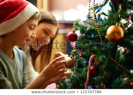 Natale decorazione evergreen albero persone pino Foto d'archivio © robuart