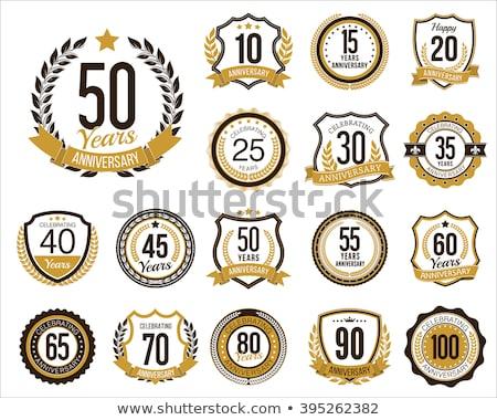 set of golden anniversary badges Stock photo © SArts