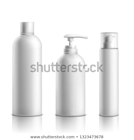 Plastic opaque cream bottle isolated on white background, 3D illustration. stock photo © kup1984