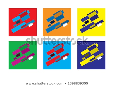 Abstract geometric modern versicolored combinations, flat background, vector set. Stock photo © Glasaigh