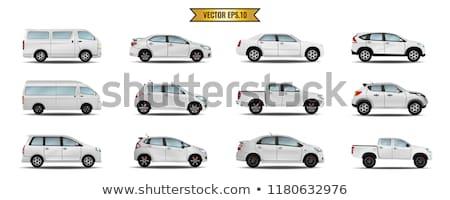 Classic mini van vector mockup Stock photo © YuriSchmidt