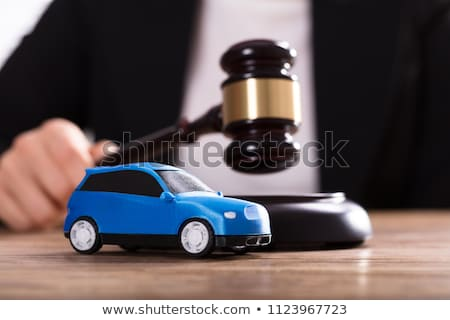 Mallet, Gavel And Car In Front Of A Judge Stock photo © AndreyPopov