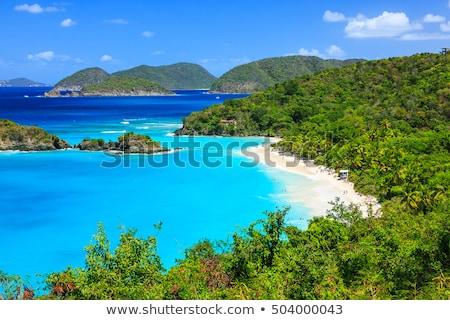 Stock fotó: Széles · fehér · homok · tengerpart