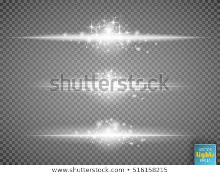 Vector Transparent Sci-Fi Blue Star Special Lens Flare Light Effect. Stock photo © tashatuvango